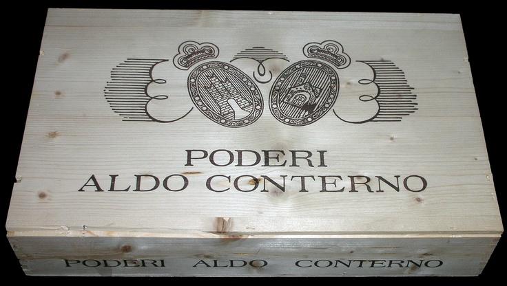 Poderi Aldo Conterno 6 Bottle Wooden Wine Case
