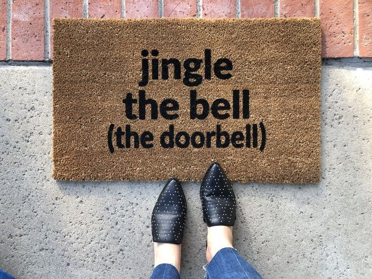 Jingle The Bell Funny Christmas Doormat Christmas Doormat Front