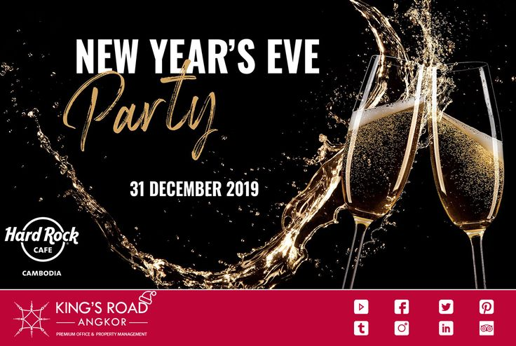 Celebrate your New Year's Eve 2020 Hard Rock Cafe' Angkor