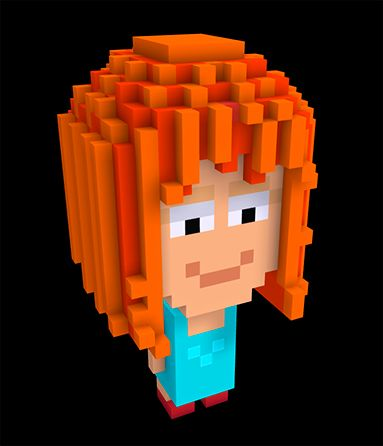 Playing with MagicaVoxel - Miranda from our PixelMogul Game