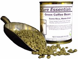 Canned Organic Green Costa Rican Monte Crisol Coffee Beans - Here's a way to store coffee beans for 20 years.  Open, roast, grind, brew.