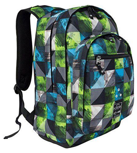 Unisex Summer Print Backpack Rucksack Bag H46 x W35 x D16 cm (N, Surf Chevron)