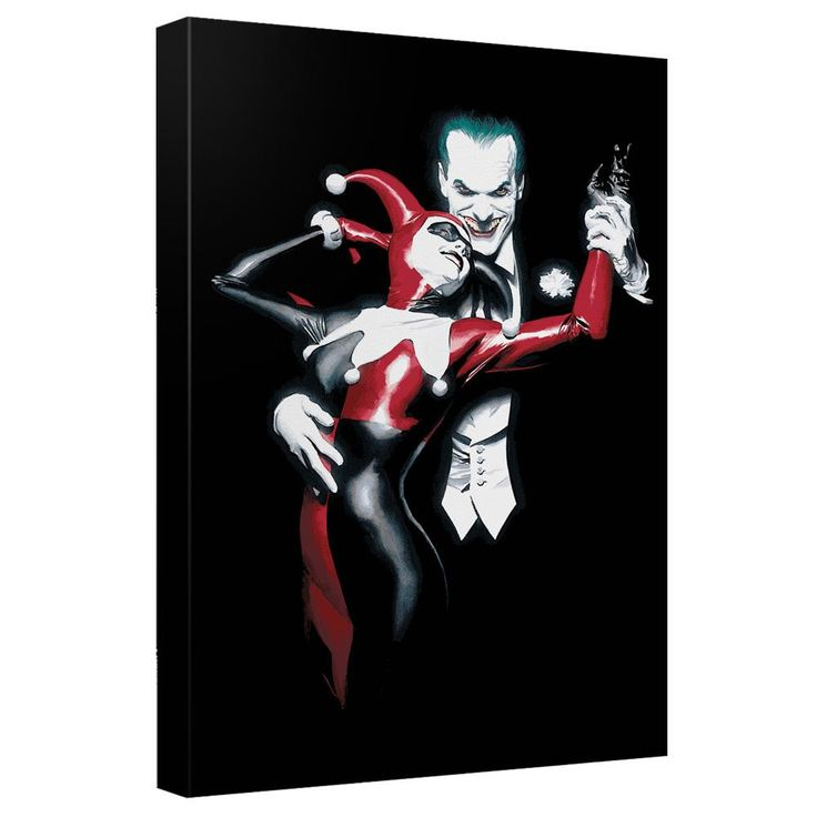 Batman - Joker And Harley Canvas Wall Art