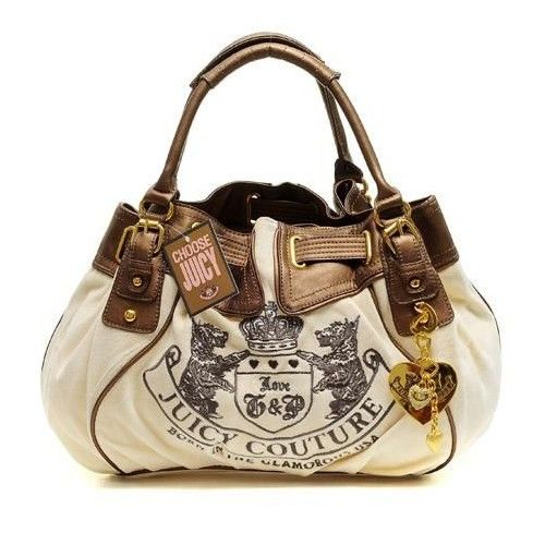 Juicy Couture Leather Scottie Baby Fluffy Crown/Brown Handbag---Juicy bags rock!