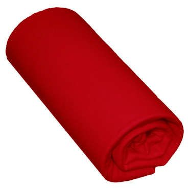 cool Drap housse 180X200 cm SATINA coloris rouge - Conforama