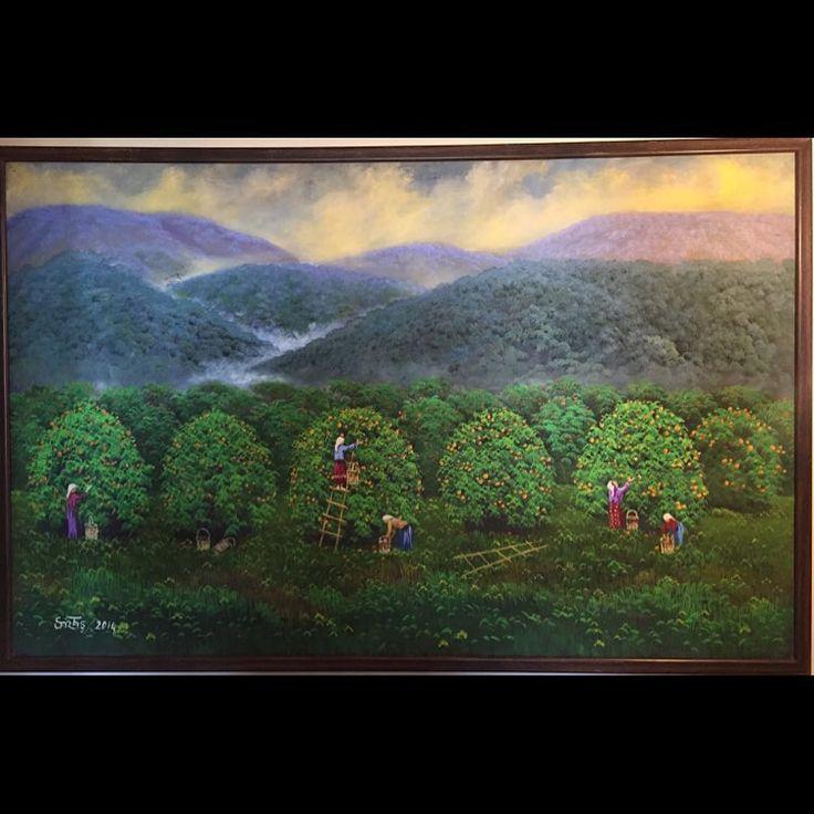 ✨PORTAKAL BAHÇESİ ✨ 70x110 Tuval Üzeri Yağlı Boya.  #resim #tablo #sergi #resimsergisi #ressam #yağlıboya #oilpainting #sanat #ankara #izmir #istanbul #art #artwork #fineart #vscocam ✨Bu Esere Sahip Olmak İçin; Okan Sartaş 05074409494✨ #drawing #canvas #ig_turkey #turkeyinstagram #turkeyartist #artofdrawing #ig_art