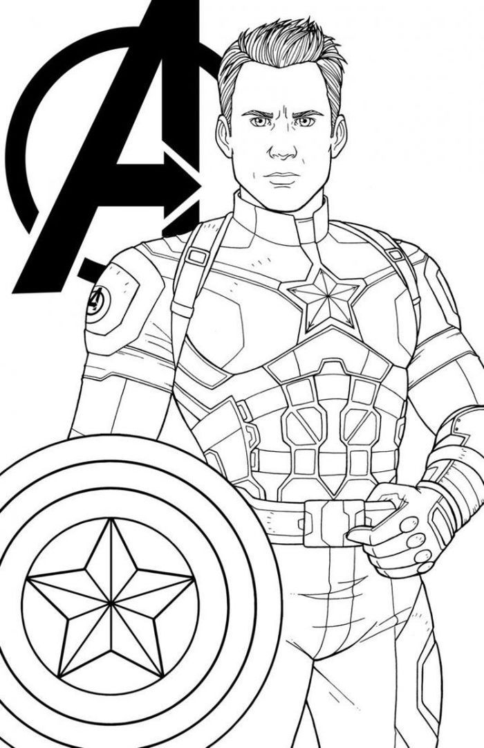 Printable Avengers Coloring Pages | Captain america ...