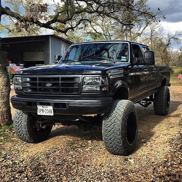 Classic Black Ford Dieseltrucks Vehicles Ford Trucks Diesel