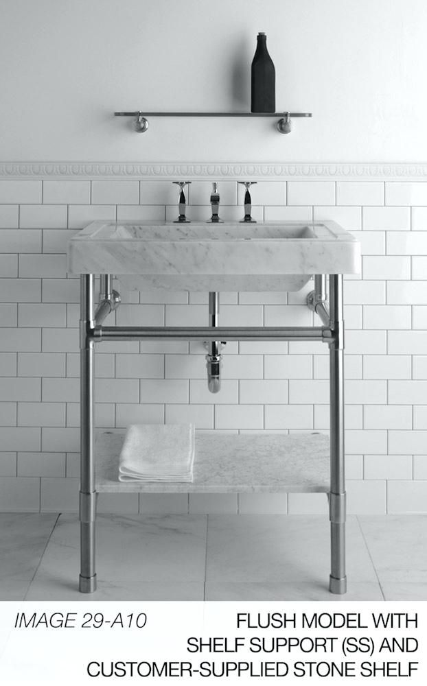 Sink Legs Ebay Console And Marble Powder Room