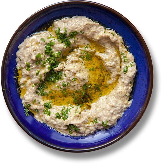 Бабагануш (Bābā ġanūj, غنوج, متبل, Baba Ghanoush, Patlıcan Babaganuş)