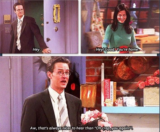 Monica and Chandler.