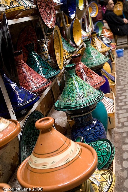 Tagines- Aren't they pretty? I'd love to get my cooking cap on and whip up a beautiful Moroccan dish in one of these. They had so many like these patterned ones at Red Ramia Trading in Myrtleford, I will definitely be heading back there with some money!