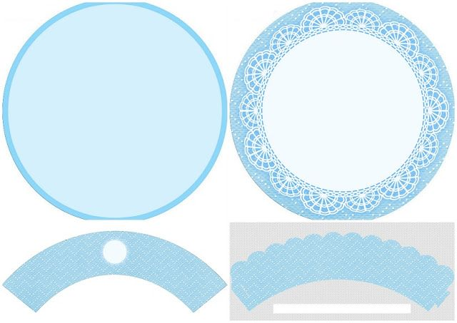 Light Blue Lace: Free Printable Wrappers and Toppers.