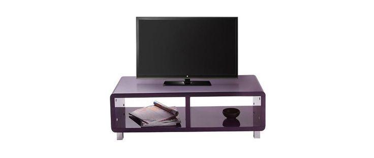 Mobile TV design laccato viola PIXY - Miliboo