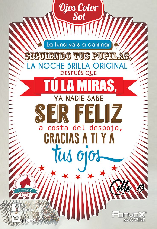 Ojos Color Sol - Calle 13  By. Julio C. Vox