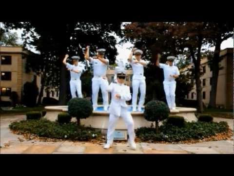 Gangnam Style - US Merchant Marine Academy    Only because of how much my co-worker loves this have I gotten on board with Gangnam Style...and maybe the sailors.