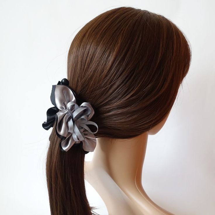 Handmade Layered Satin Petal trumpet lily Flower Banana Hair Clip Accessories #VeryShine #Clips