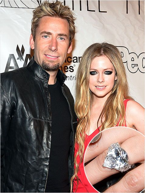 45 best images about Celebrity Engagement Rings on ... Avril Lavigne And Chad Kroeger Engagement Ring