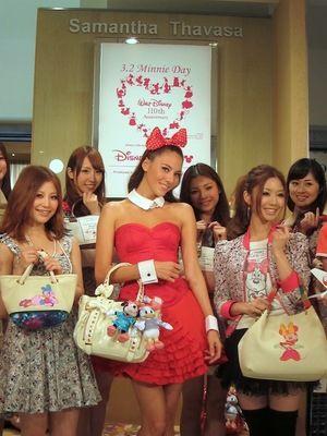 「ミニーマウスの日」記念、羽田空港にサマンサディズニーショップ   2012年03月02日   Fashionsnap.com