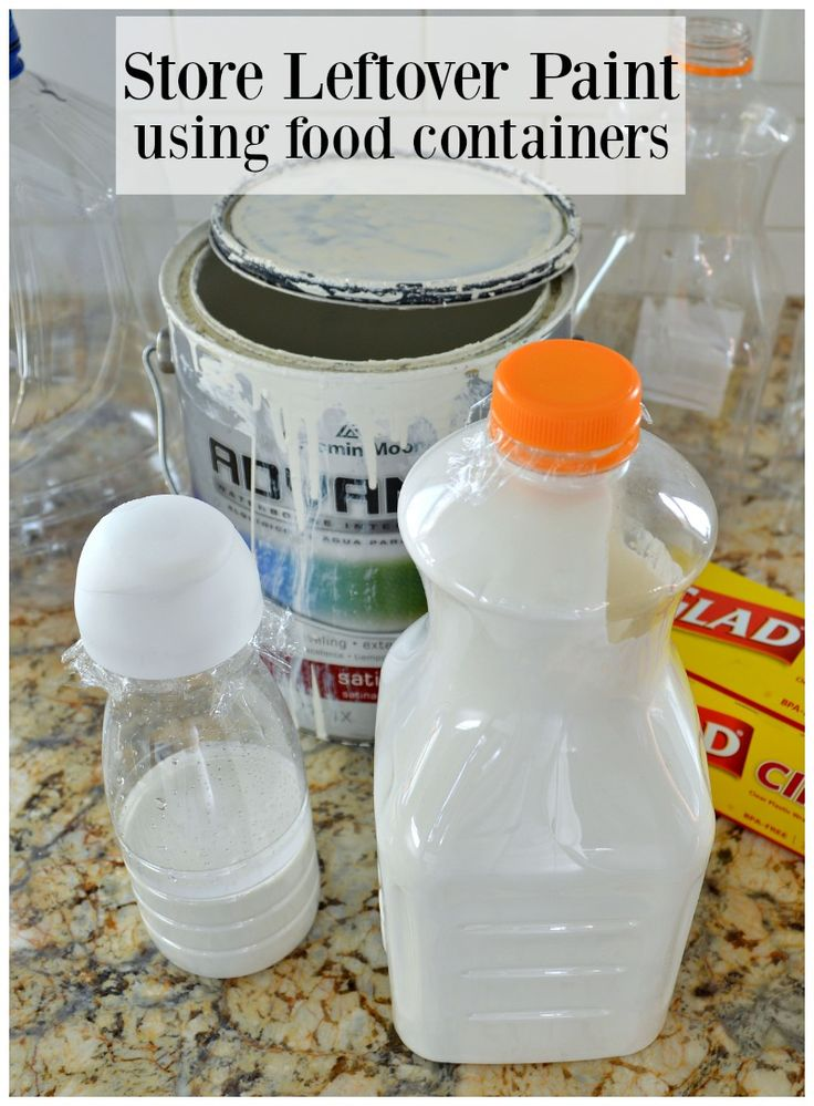 Store leftover paint using food containers bound for the recycle bin. | chatfieldcourt.com