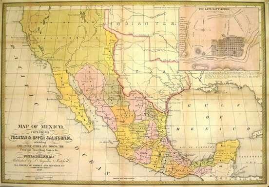 2 de febrero, 1848.  Se firma el Tratado de Guadalupe Hidalgo.  México cede a EE. UU. más de la mitad de su territorio: la totalidad de lo que hoy son los estados de California, Arizona, Nevada y Utah; así como parte de Colorado, Nuevo México y Wyoming; se estableció al Río Bravo del Norte o Río Grande como la línea divisoria entre Texas y México.