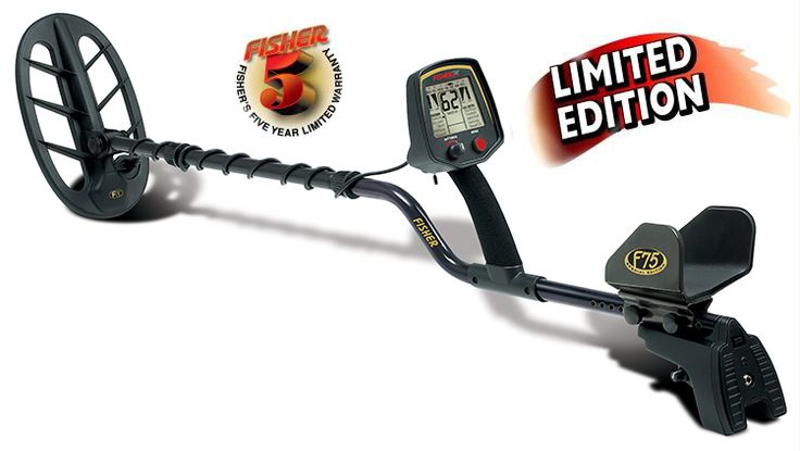 Fisher F75 LTD Black Metal Detector | River Team Six Metal Detector