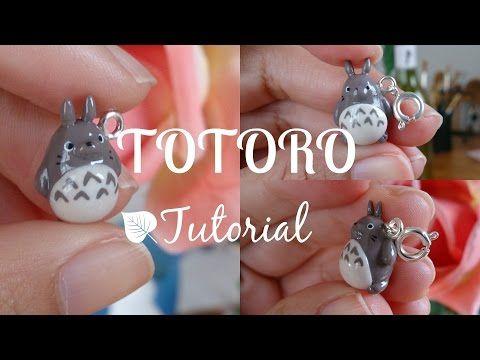 Tutorial #3 - Totoro! Polymer Clay Charm ♡ - YouTube