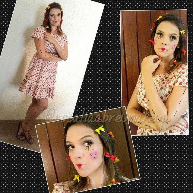 """O Carnaval acabou, mas a """"bonequinha de pano"""" ficou! Maquiagem/Makeup:  Rosália Abreu"""