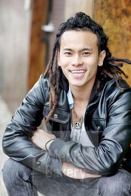 Chinese Rastafarian Smiling Chinese man wi...