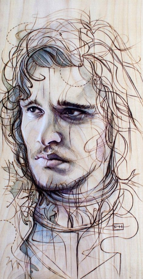 JonSnow 470x918 The Most Breathtaking Game of Thrones Art Youll See This Week