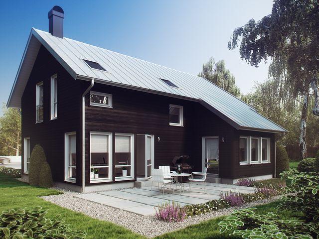 Хельга - шведский дом с мансардой для семьи из четырех-шести человек.