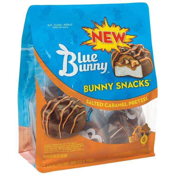 Blue Bunny Salted Caramel Pretzel Ice Cream Bars
