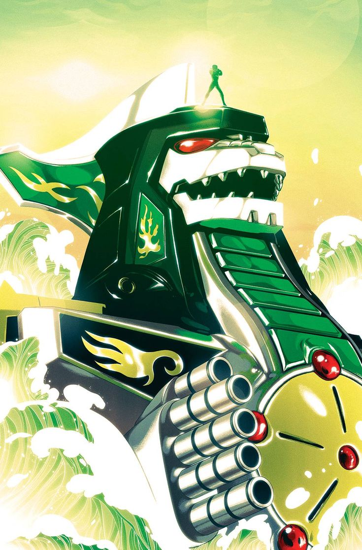 Mighty Morphin Power Rangers #2 1/25 Zord cover