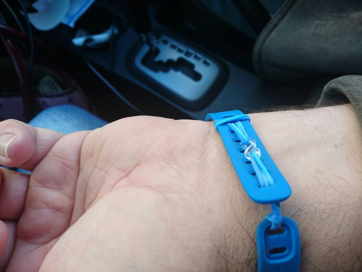 Fitbit Flex homemade fix with loom elastic bands.