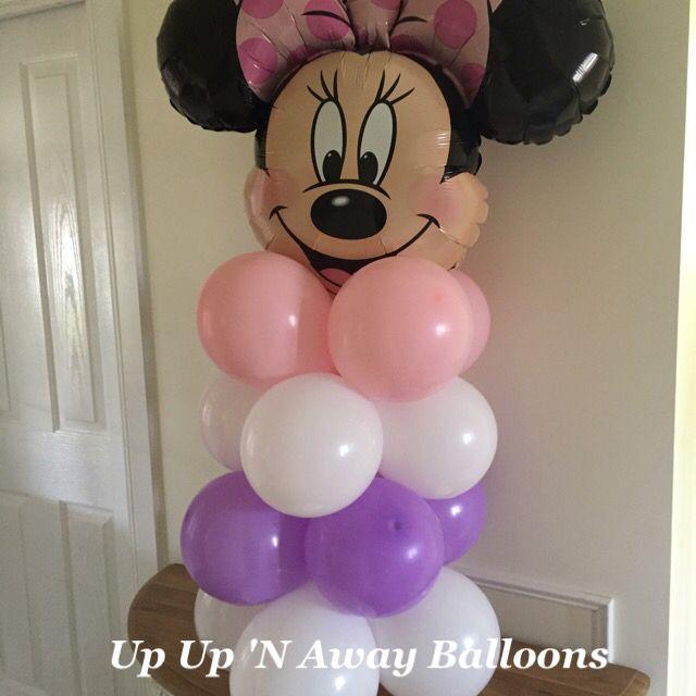 Minnie Mouse birthday stack. #birthdayballoons #specialrequestorder