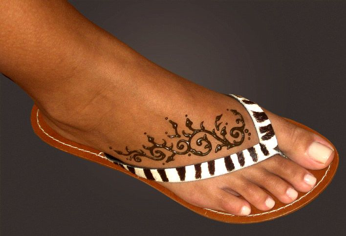 Image Detail for - henna tattoo design by david and leia copeland of a vine on a woman's ...