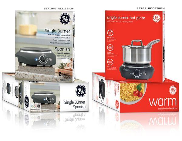 GE Small Appliance Packaging for Walmart by Ann Macdonald, via Behance