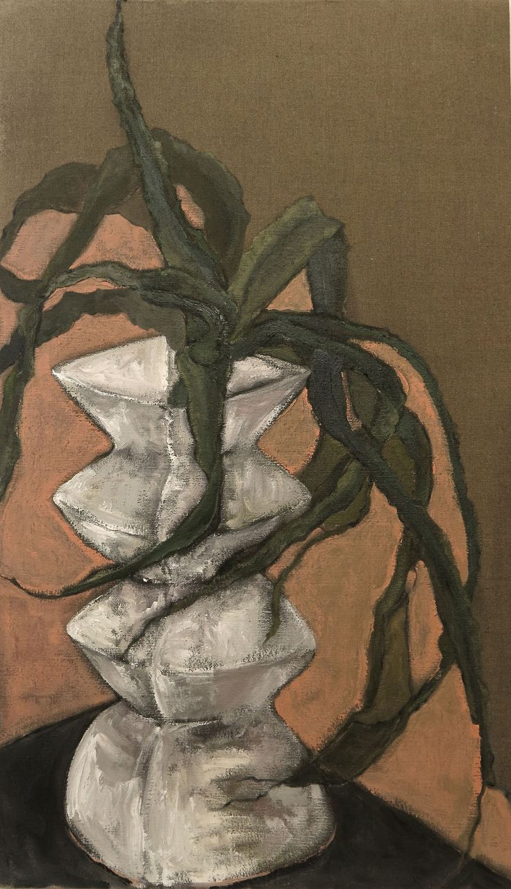 An original painting by Shany van den Berg entitled: Aloes and flesh, oil on vintage linen, 120 x70 cm #shanyvandenberg #thegalleryatgrandeprovence #knysnafineart #fineart #oil #southafricanart #southafricanartist For more please visit www.finearts.co.za