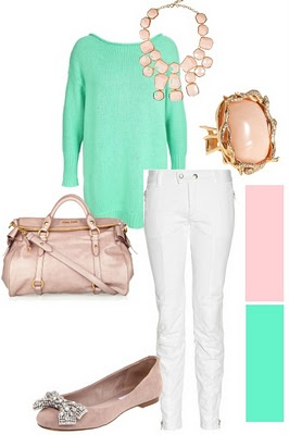 amazing color combo!: Fun Color, Color Together Everything, Color Combos, Amazing Color, White Pants, Cute Outfit, Travel Outfit, Gray Pants, White Jeans