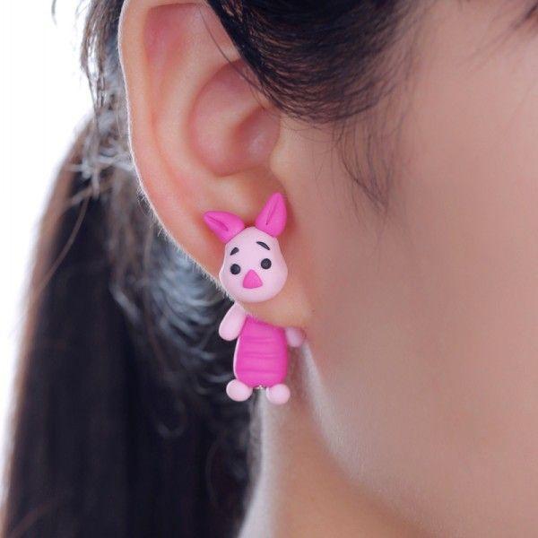 2015 Polymer clay stud earrings for women Cute animal rabbit creative earring brincos fashion jewelry  -in Stud Earrings from Jewelry on Aliexpress.com | Alibaba Group