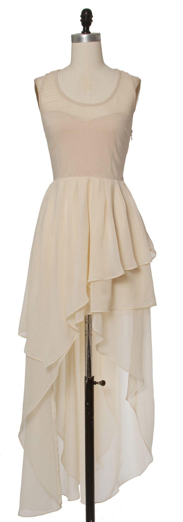 Trendy & Cute Clothing - Ark & Co - Waves Of Nude Dress - chloelovescharlie.com | $87.00