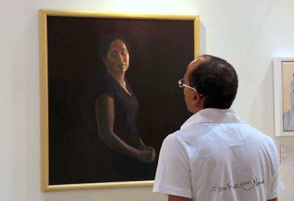 """A Love affair . A painter paints what he sees, an artist paints what he feels. A painting from """" World art Dubai."""