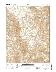 ~ Spanish Springs Peak NV topo map, 1:24000 scale, 7.5 X 7.5 Minute, Current, 2014