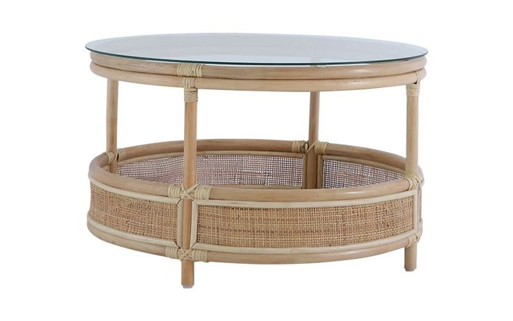 Bermuda coffee table in rattan natural with images oz