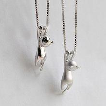 Новая Мода Прекрасный Посеребренные Ожерелье Крошечные Симпатичные Подвески Cat Странно Необычные Ювелирные Изделия Кулон Шарм Ожерелье(China (Mainland))