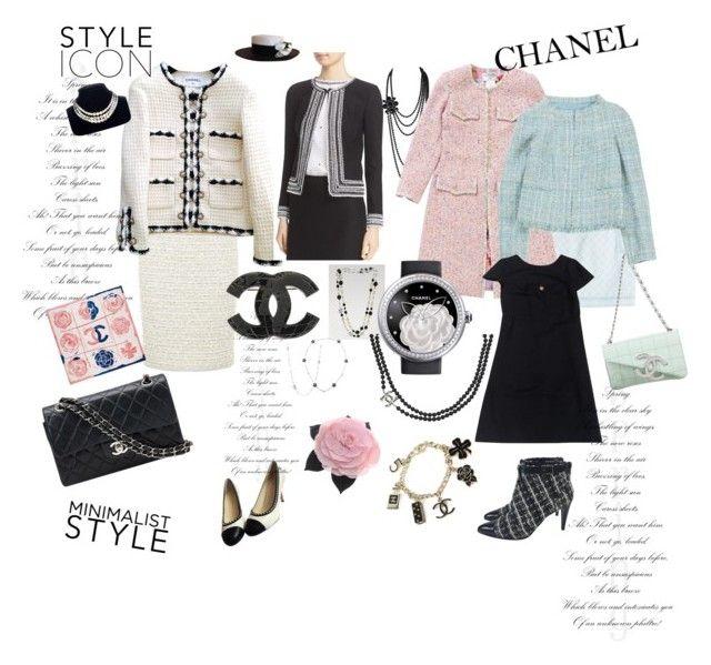 шанель by nkoreshkova on Polyvore featuring polyvore fashion style Chanel St. John Balmain clothing
