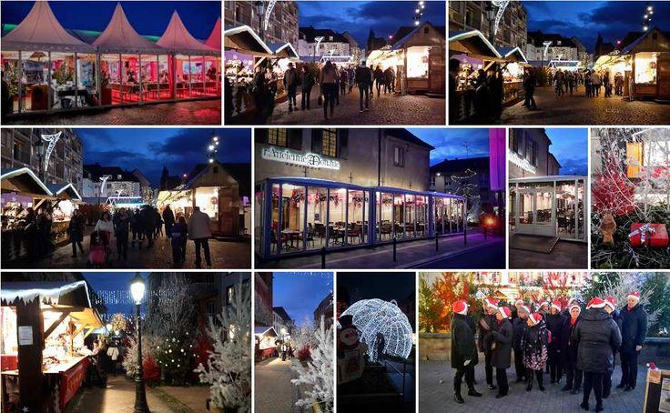 Carte postale virtuelle du marché de Noël 2015 de Haguenau  J -30, dans un mois, nous fêtons déjà le réveillon de Noël. J'en profite pour souhaiter à tous mes lecteurs réguliers ou non, de belles fêtes de fin d'année et surtout un Joyeux Noël.