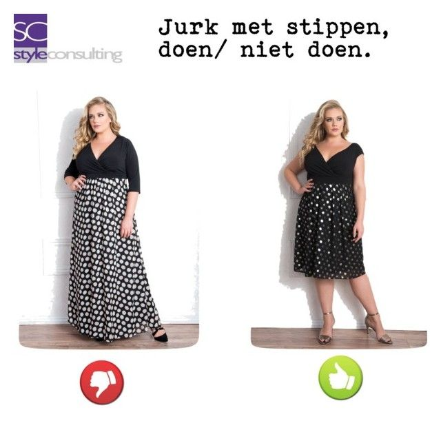 """Jurk met stippen. Maatje meer. Polka dot's for plus size."" By Margriet Roorda-Faber."