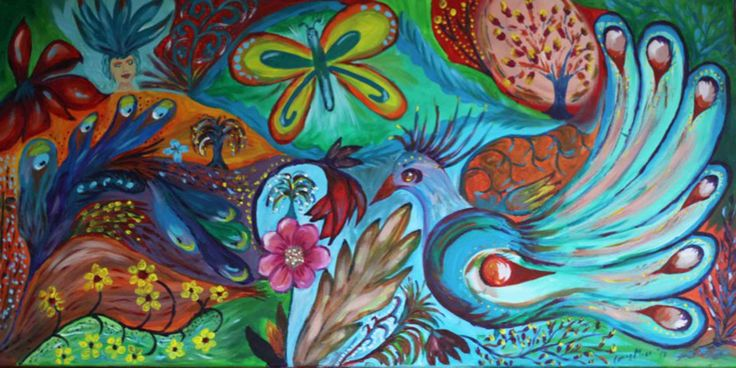 Butterfly Heaven 2 from the serie: Fantasy Garden. Acrylic on canvas. 60cm x 40cm x 2cm, Facebook: Conny Moes Arts