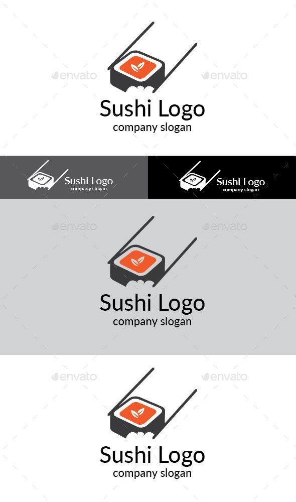 Sushi Logo  #ai #illustrator #sushi #lunch • Download ➝ https://graphicriver.net/item/sushi-logo/18813109?ref=pxcr